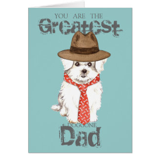 Maltese Dad Greeting Card