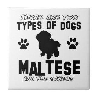 Maltese dog breed designs ceramic tiles
