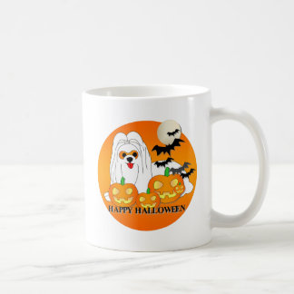 Maltese Dog Halloween Coffee Mugs