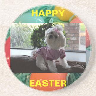 Maltese Easter Gifts 2 Beverage Coaster