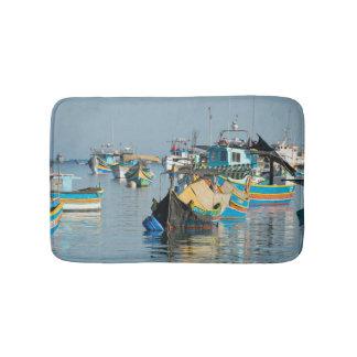 Maltese Fishing Boats | Marsaxlokk In Malta Bath Mat