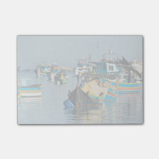 Maltese Fishing Boats | Marsaxlokk In Malta Post-it Notes