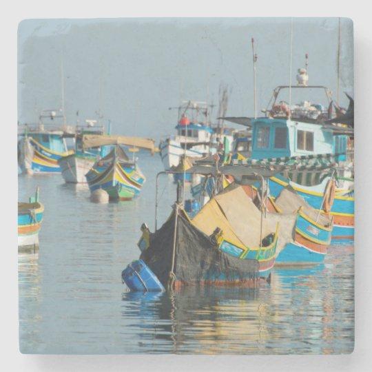 Maltese Fishing Boats | Marsaxlokk In Malta Stone