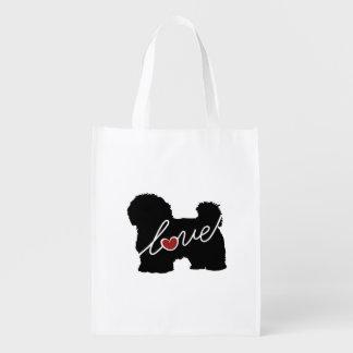 Maltese / Havanese Love Reusable Grocery Bag