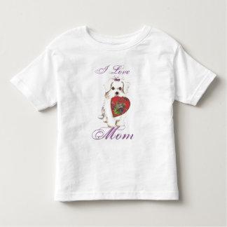 Maltese Heart Mom Tshirts