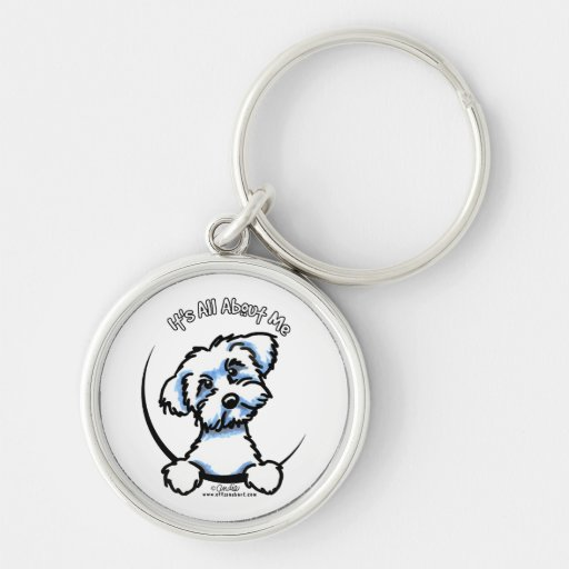 Maltese Its All About Me Keychain