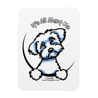 Maltese Its All About Me Rectangular Photo Magnet