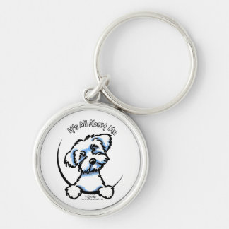 Maltese Its All About Me Silver-Colored Round Key Ring