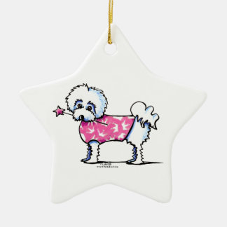 Maltese Lil Princess Christmas Ornament