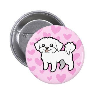 Maltese Love (puppy cut) Pinback Button