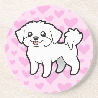 Maltese Love (puppy cut) Coaster