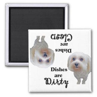 Maltese Lovers Dishwasher Magnet