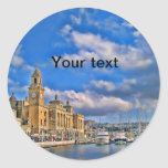 Maltese marina round sticker