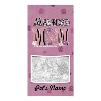 Maltese MOM Photo Greeting Card