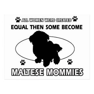 maltese mommy designs postcard