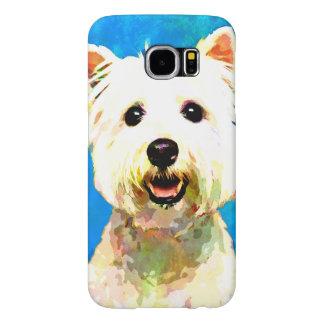 Maltese Pop Art Watercolor Portrait Samsung Galaxy S6 Cases