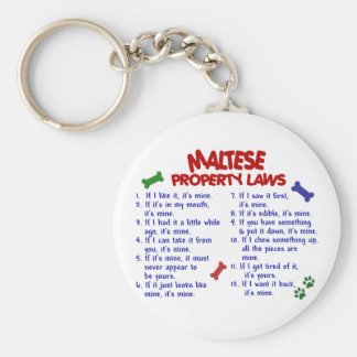 MALTESE Property Laws 2 Key Ring