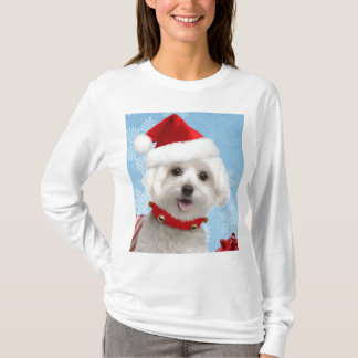 Maltese Puppy Christmas Shirt