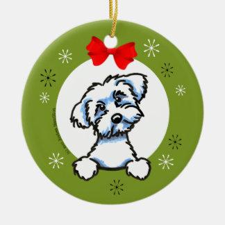 Maltese Puppy Cut Christmas Classic Christmas Ornament