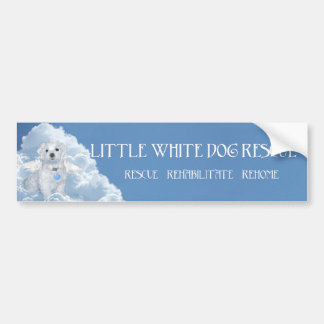 Maltese Rescue Angel Bumper Sticker