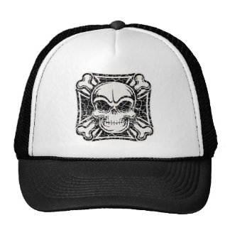 Maltese Skull Crossbones Mesh Hat