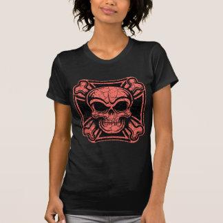 Maltese Skull & Crossbones -red Tee Shirt