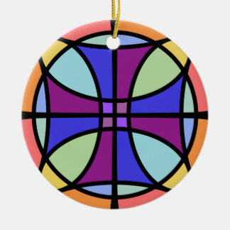 Maltese Stained Glass 2 Christmas Ornament