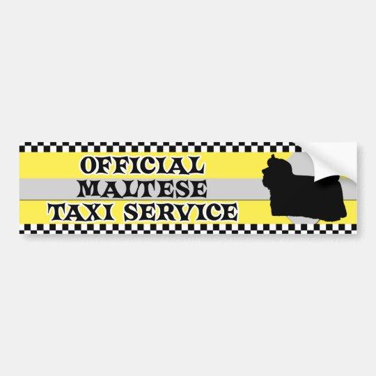 Maltese Taxi Service Bumper Sticker