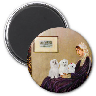 Maltese (three) - Whistlers Mother Magnet