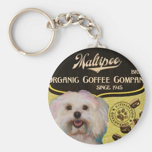 Maltipoo Brand – Organic Coffee Company Keychains