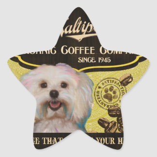 Maltipoo Brand – Organic Coffee Company Star Sticker