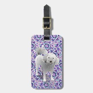 Maltipoo Cute Little White Dog Luggage Tag