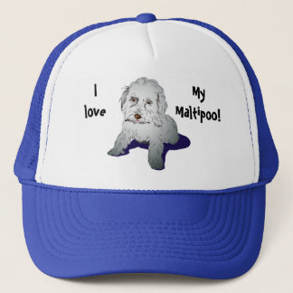 Maltipoo Cute Puppy Trucker Hat