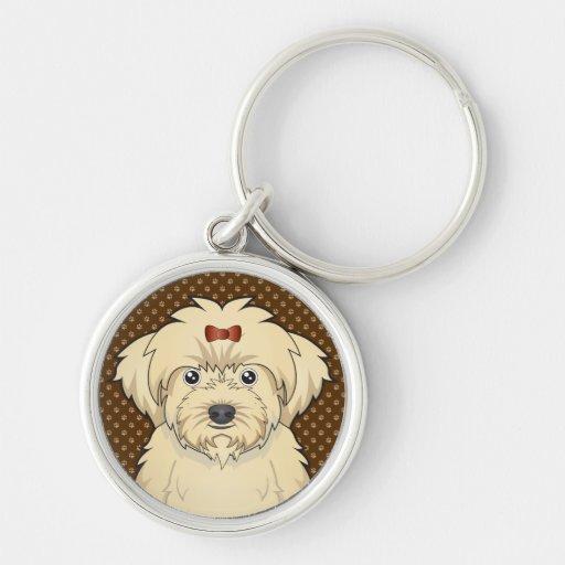Maltipoo Dog Cartoon Paws Key Chain
