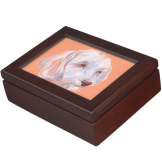 Maltipoo Dog Pastel Art Keepsake Box