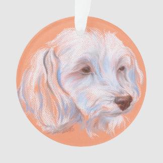 Maltipoo Dog Pastel Art Ornament