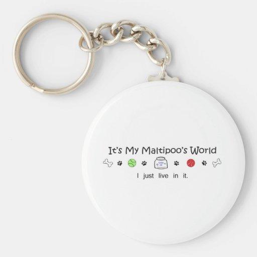 Maltipoo Keychain