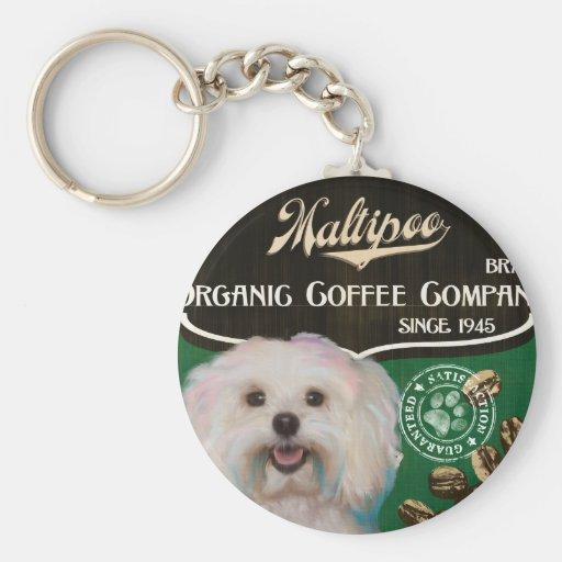 Maltipoo – Organic Coffee Company Key Chain