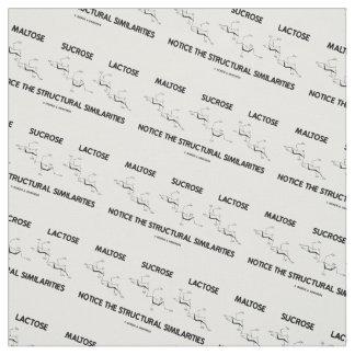 Maltose Sucrose Lactose Structural Similarities Fabric