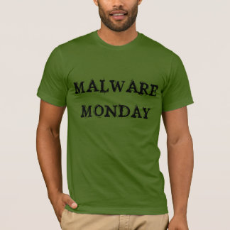 """Malware Monday"" t-shirt"