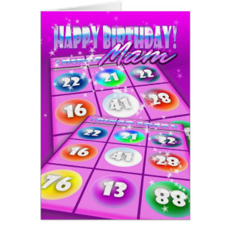 Mam Bingo Crazy Birthday Card