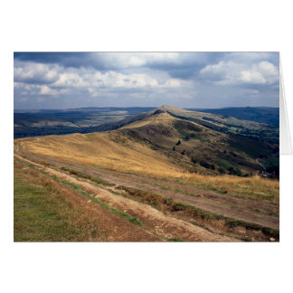 Mam Tor and Loose Hill Ridge, Derbyshire Europe Greeting Card