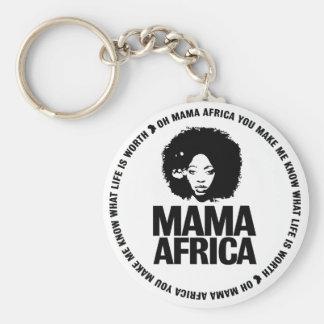 Mama Africa Key Basic Round Button Key Ring