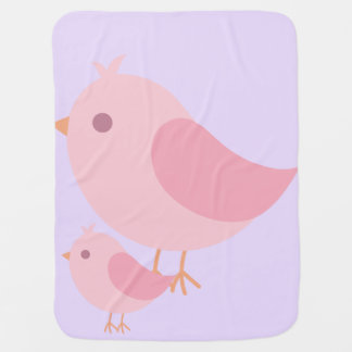 Mama and Baby Bird Baby Blanket