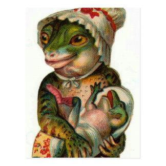 Mama and Baby Frog Postcard