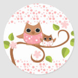 Mama and Baby Owl Stickers