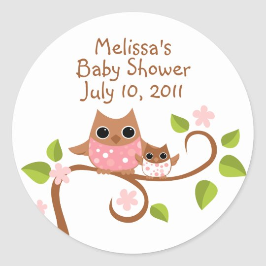 Mama and Baby Owls Classic Round Sticker