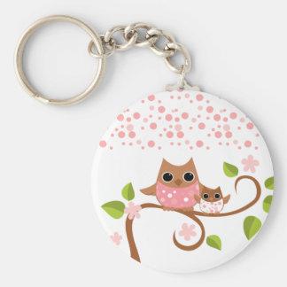 Mama and Baby Owls Key Ring