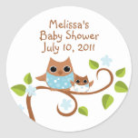 Mama and Baby Owls Sticker