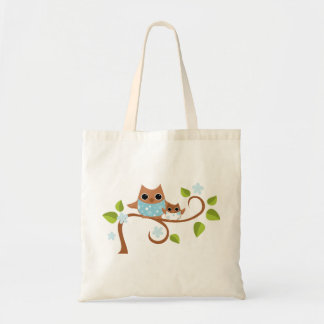 Mama and Baby Owls Tote Bag